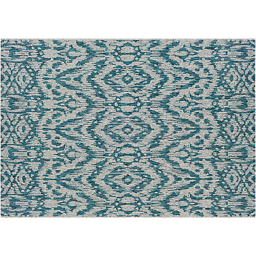 Cabra Outdoor Rug, Blue/Gray