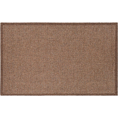 Calbi Outdoor Rug, Dark Brown