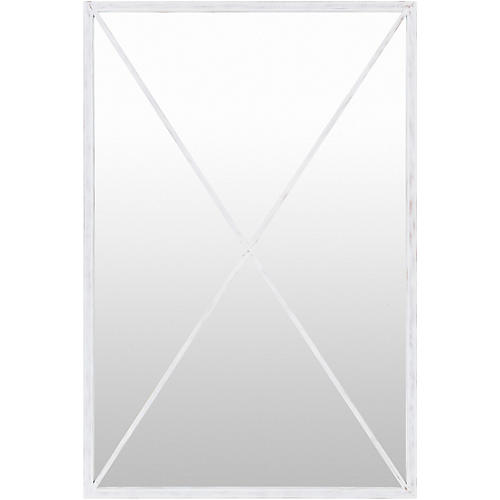 Forge Floor Mirror, White