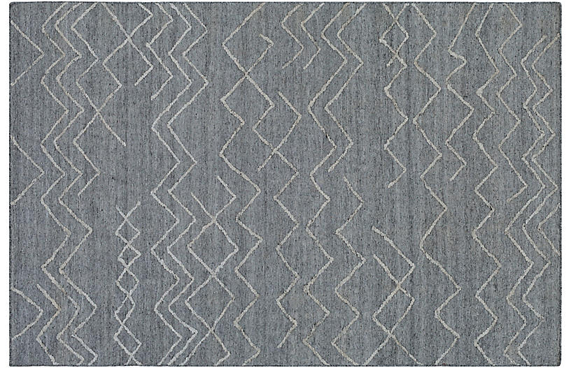 Vector Rug, Gray