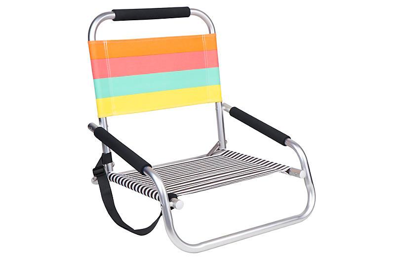 Avalon Outdoor Beach Chair Orange Multi Finds Under $50