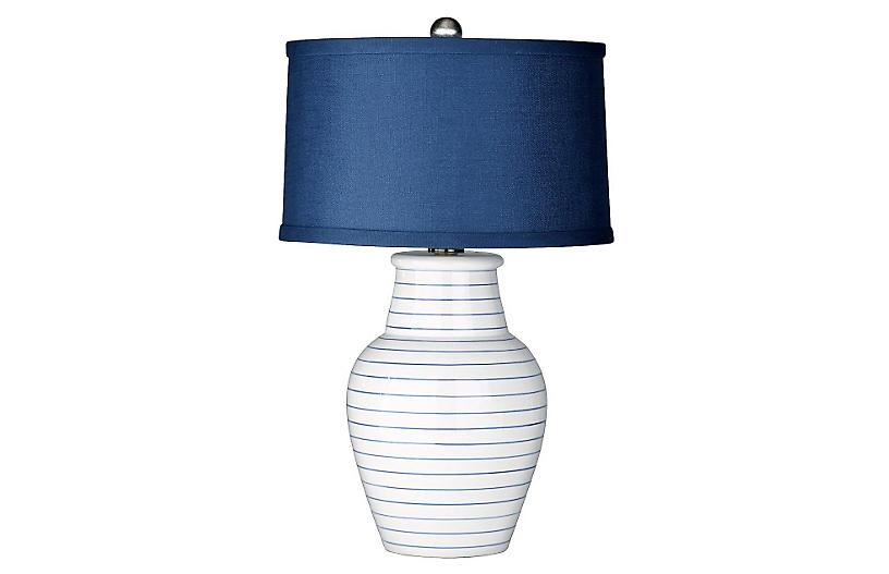Gemma Table Lamp, Cream