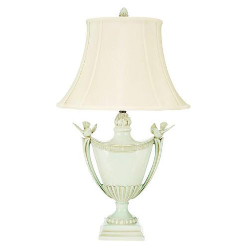 Calinda Table Lamp, Celedon