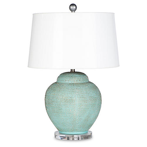 Katrina Table Lamp, Aqua