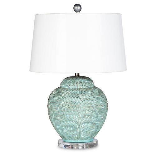 Katrina Table Lamp, Aqua