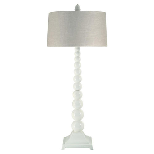 Chloe Stacked Buffet Lamp, White