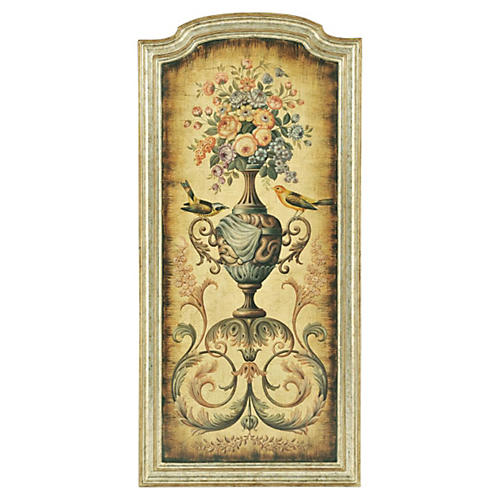 Anastasia Floral Urn Panel, Right