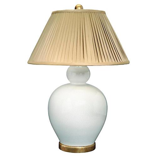 Payton Poco Table Lamp, White/Gold
