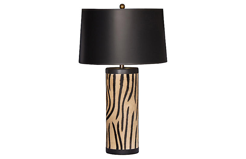 Togo Table Lamp, Tan