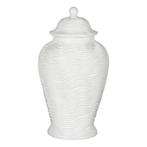 "19"" Arctic Wave Temple Jar"