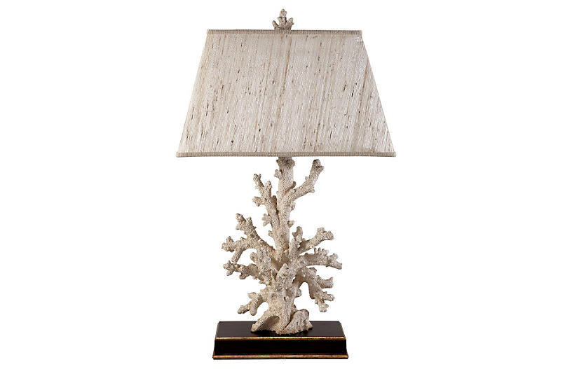 Cassidy Table Lamp, Coral