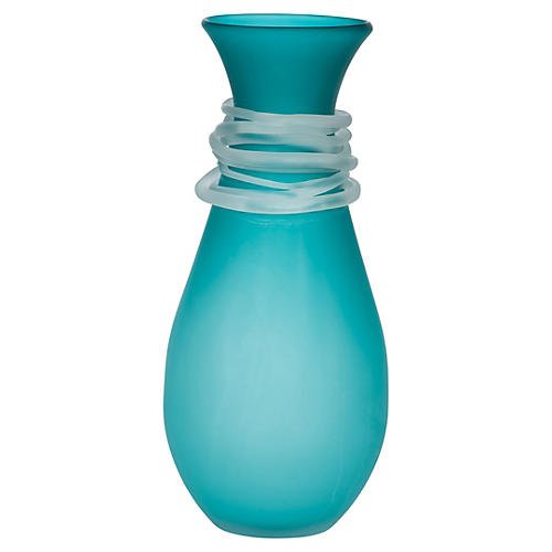 Requiem Glass Vase, Teal