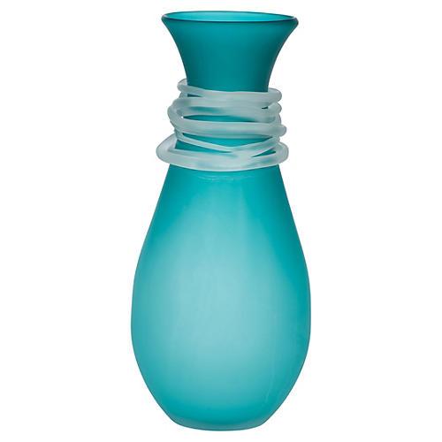 Requiem Glass Vase, Teal