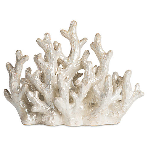 "16"" Coral Figurine, Cream"