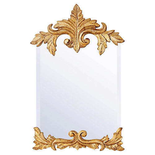 """31"""" Cheval Wall Mirror, Gold"""