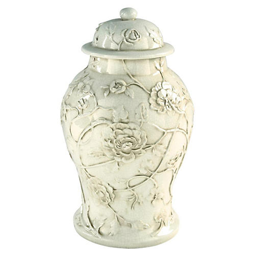 """18"""" Blossom Jar, White"""