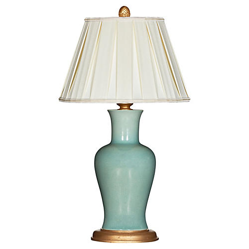 Shiloh Couture Table Lamp, Celedon