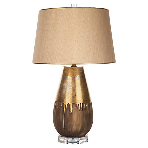 Autumn Drip Table Lamp, Gold