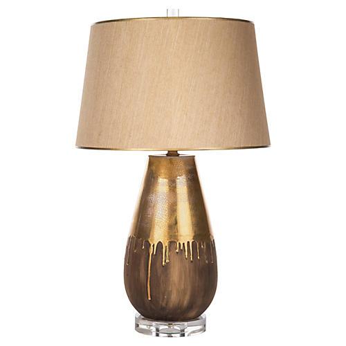 Autumn Drip Table Lamp, Gold