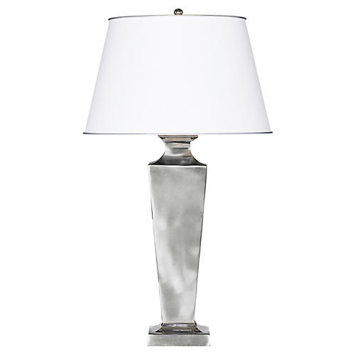 Tanner Table Lamp, Silver