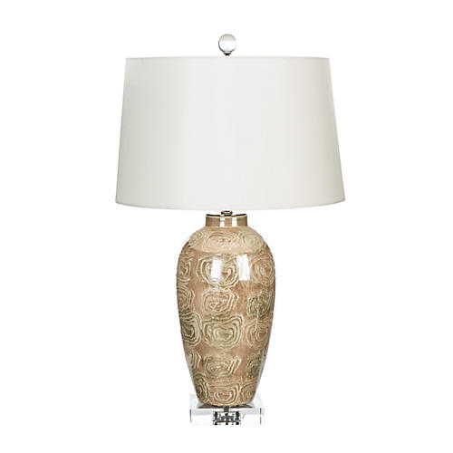 Fen Table Lamp, Taupe