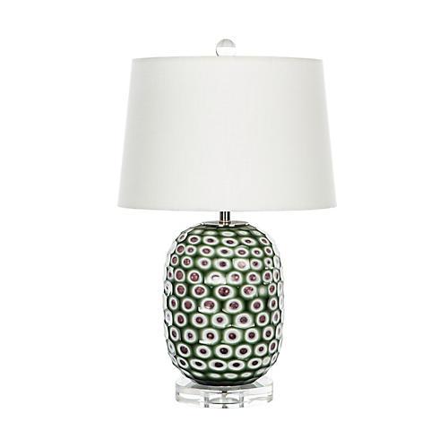 Anet Table Lamp, Emerald/Multi