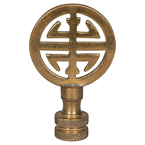 Chinese Fook Finial, Gold