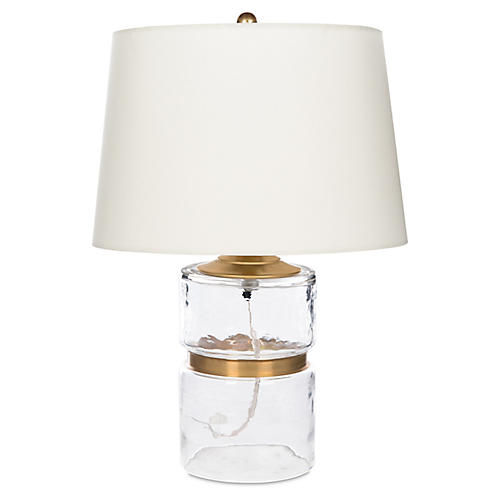 Dixie Table Lamp, Clear/Gold