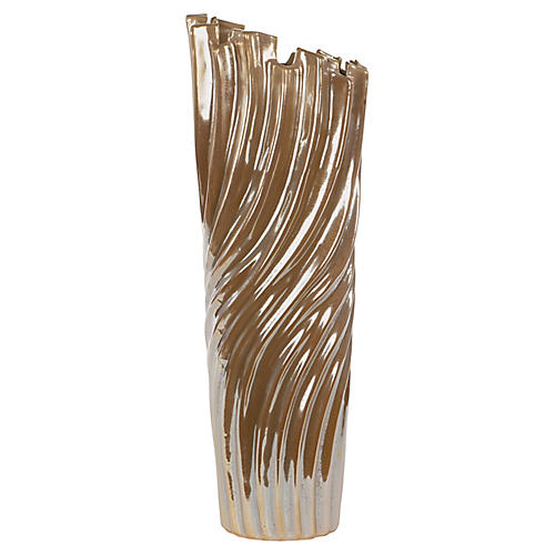 Osiris Tall Vase, Brown
