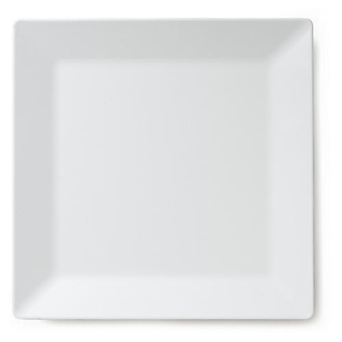 Melamine Square Serving Platter, White