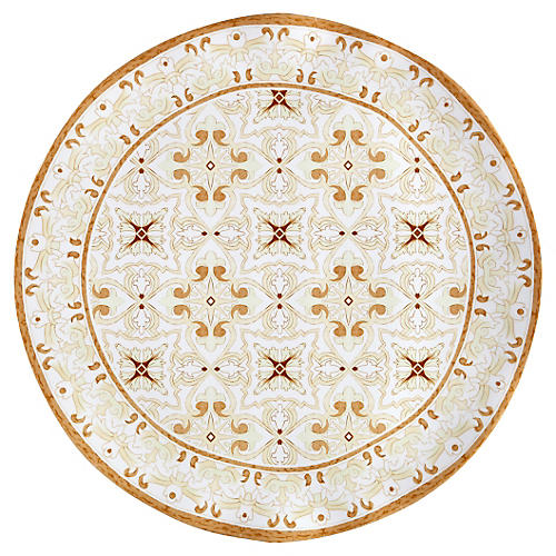 Talavera Melamine Serving Platter, Natural