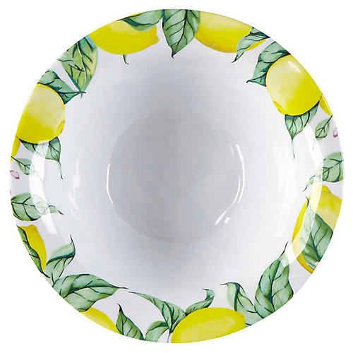 S/4 Limonata Melamine Cereal Bowls, Yellow
