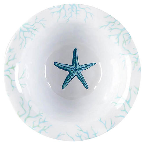 S/4 Captiva Melamine Dip Bowls, Teal