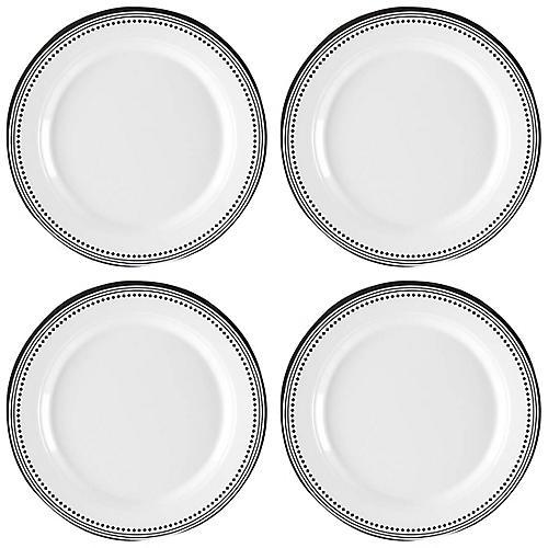 S/4 Classica Melamine Bread Plates, White