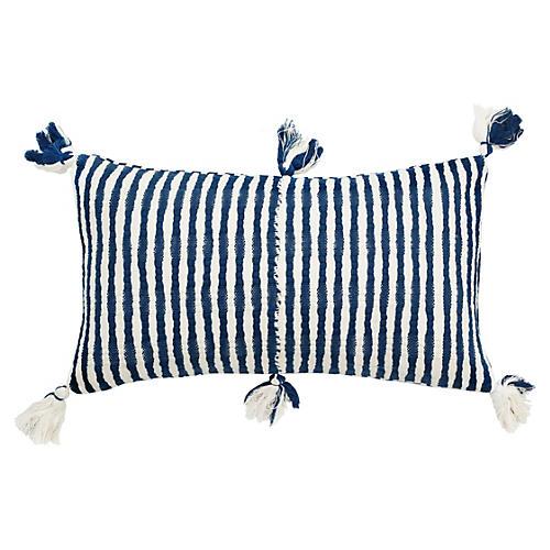 Antigua 12x20 Pillow, Dark Teal Blue