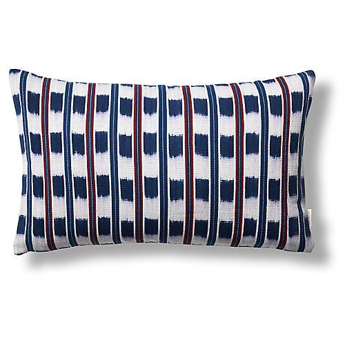 Santiago 12x20 Pillow, Indigo/Red