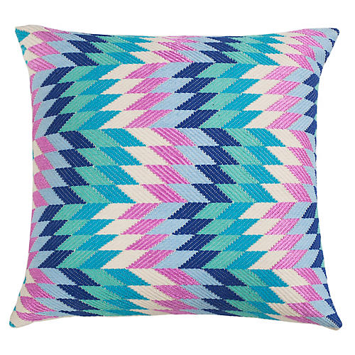 Almolonga 20x20 Pillow, Blue/Multi
