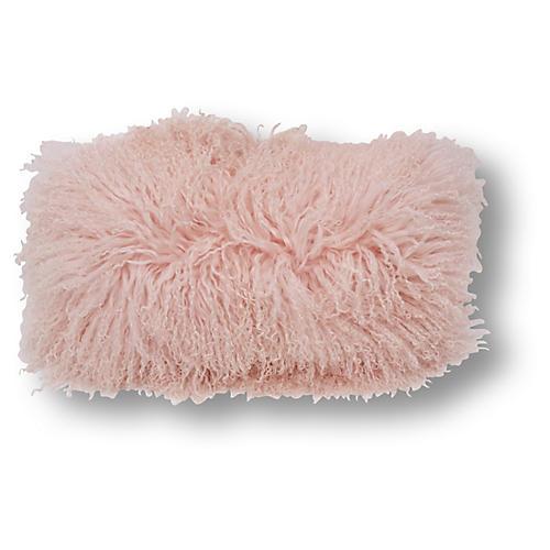 Tibetan Lumbar Pillow, Pink