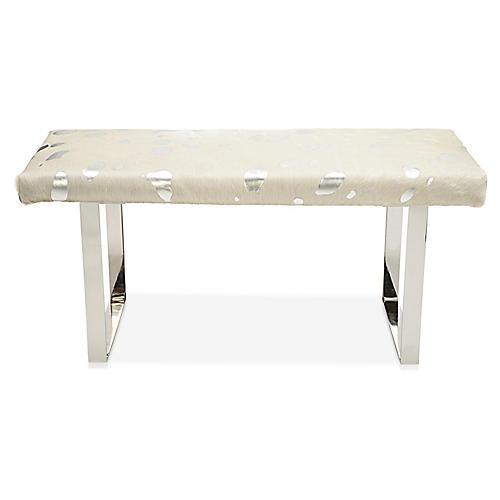 BeBe Skinny Bench, Silver/Off-White