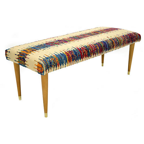 Abby Sari Bench, Beige/Multi