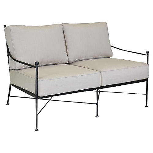 Provence Outdoor Loveseat, Rich Pewter