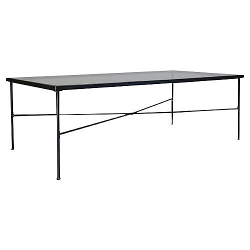"Provence 84"" Dining Table, Rich Pewter"