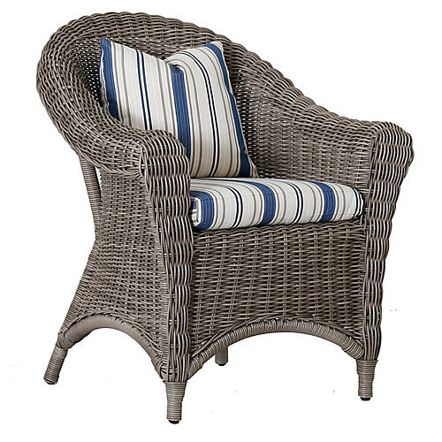 La Costa Armchair, Blue/Ivory