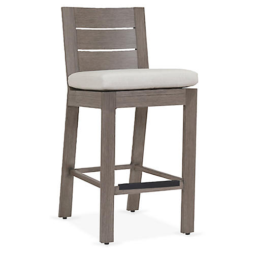 Laguna Counter Stool, Canvas Sunbrella