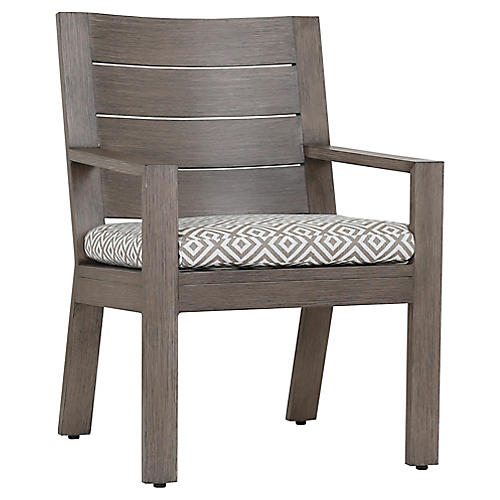 Laguna Armchair, Tan/White