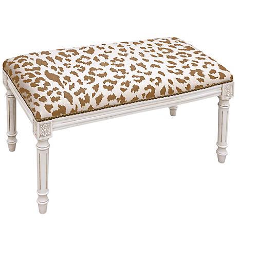 "Ollie 32"" Bench, Caramel Leopard"