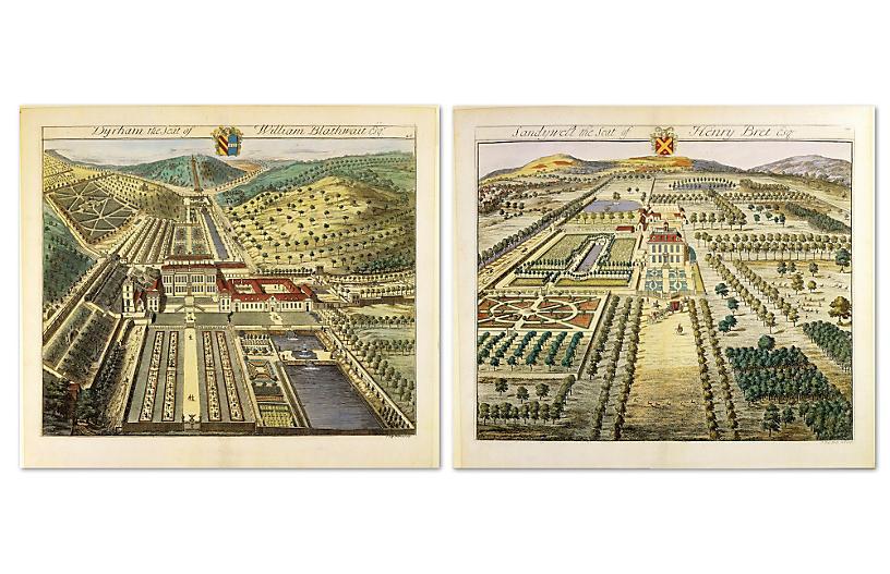 English Estates II - Set of Two - William Stafford