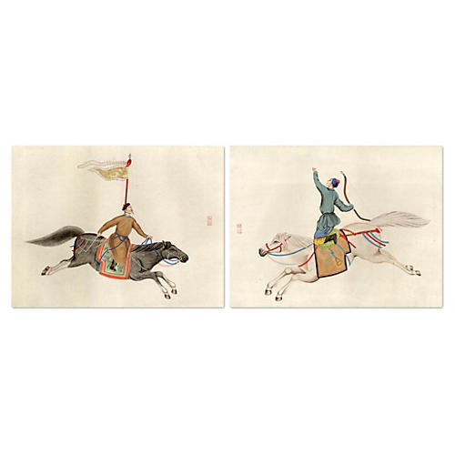 Chinese Warriors Diptych