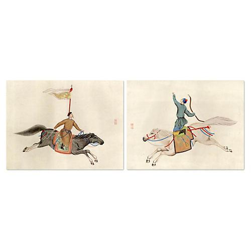 Chinese Warriors Diptych