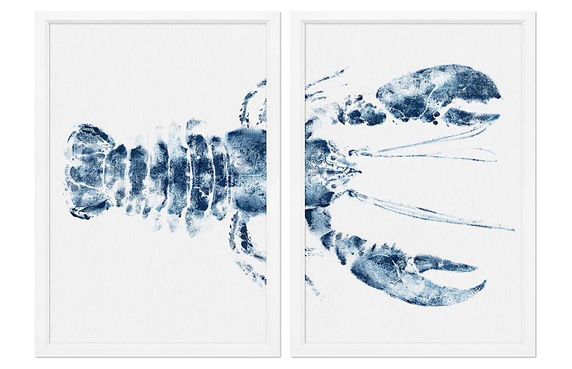 Lobster I Diptych